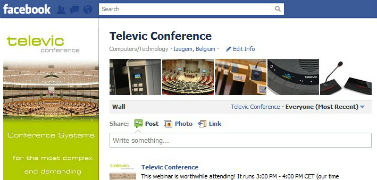 Facebook page Televic Conference